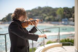 Violin on the sea